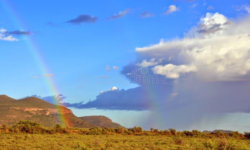 Karoo après tempête de pluie images stock