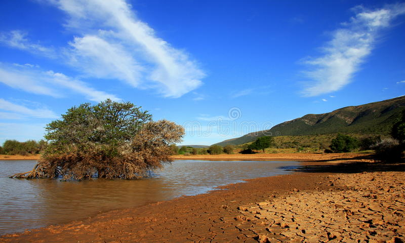 The Karoo heartland. A landscape of the Karoo in South Africa stock photo