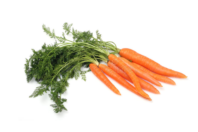 Karotte auf weißem Hintergrund lizenzfreie stockfotografie