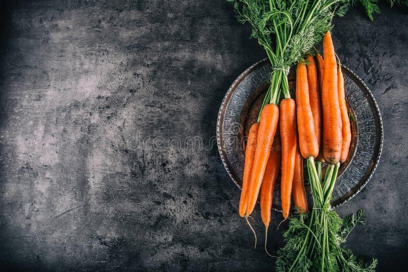 Karotte Neues Karottebündel Schätzchen-Karotten getrennt Rohe frische organische orange Karotten Gesundes Gemüselebensmittel des  lizenzfreie stockbilder