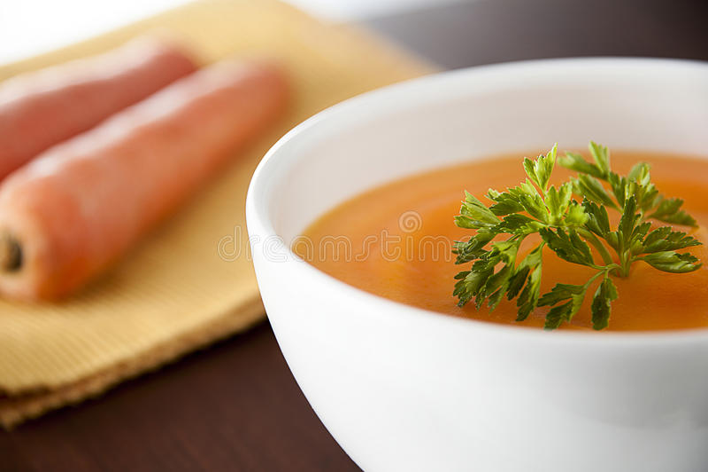 Karotten-Suppe lizenzfreies stockfoto