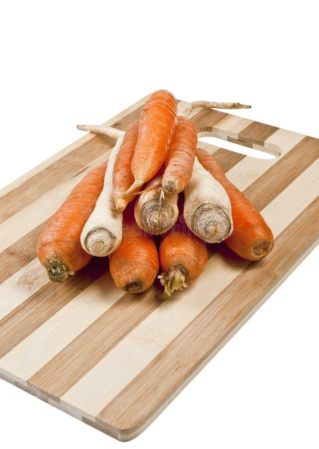 Karotten und Pastinake lizenzfreie stockfotografie