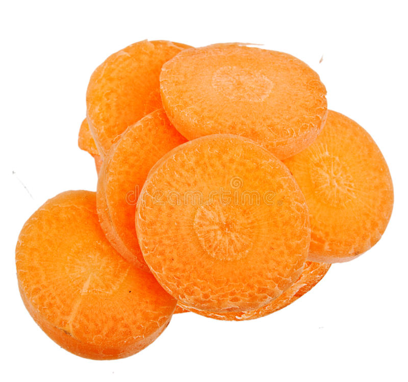 Karottenscheibe lokalisiert