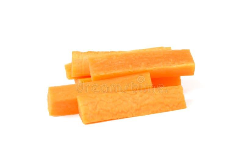 Karottenscheibe lokalisiert auf weißem Hintergrund lizenzfreie stockfotos