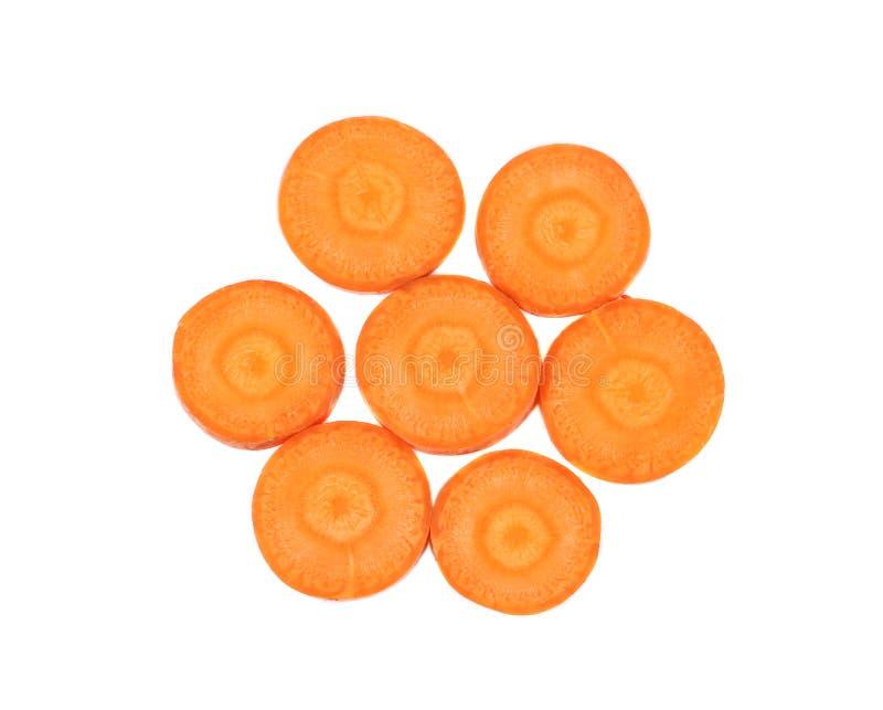 Karottenscheiben als Blume stockfoto