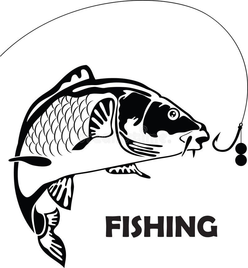 Karp ryba, ilustracja royalty ilustracja