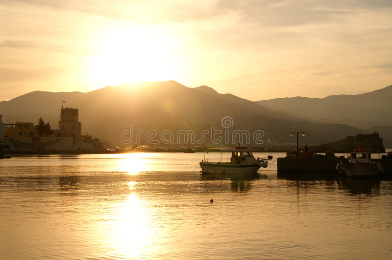 Karpathos Stadt stockbilder