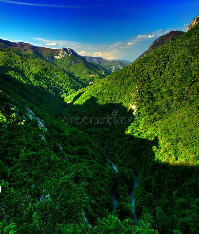 Karpatisch panorama stock foto's