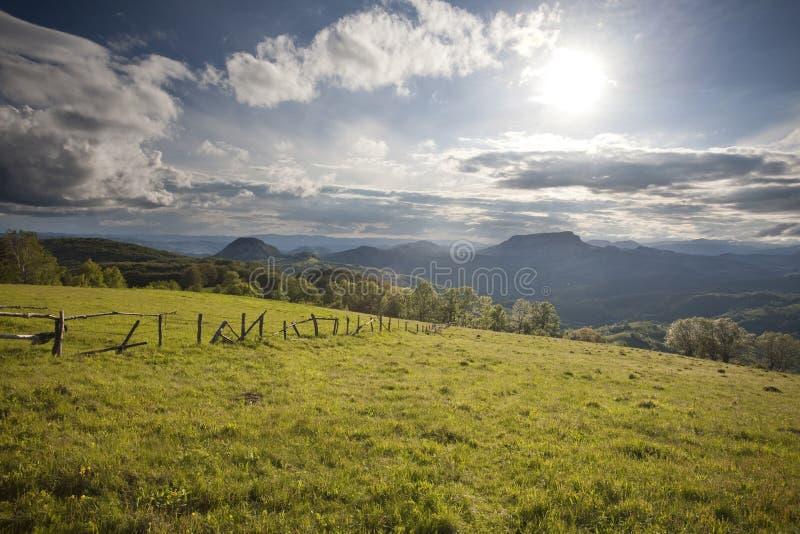 Karpatische berg stock afbeelding
