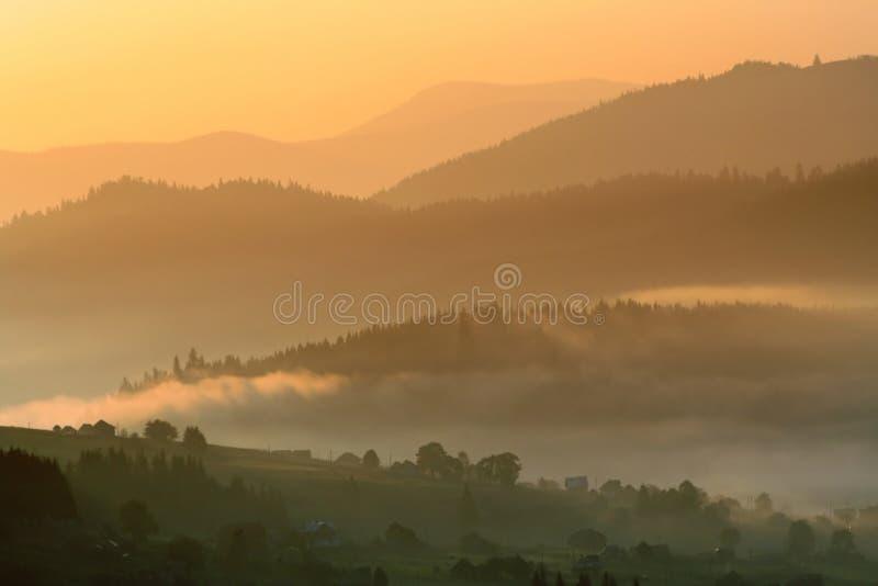 Karpatische bergen royalty-vrije stock foto