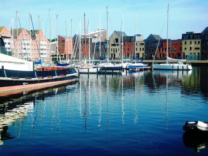 Karperkuil - το μικρότερο λιμάνι Hoorn, Ολλανδία, οι Κάτω Χώρες στοκ φωτογραφία
