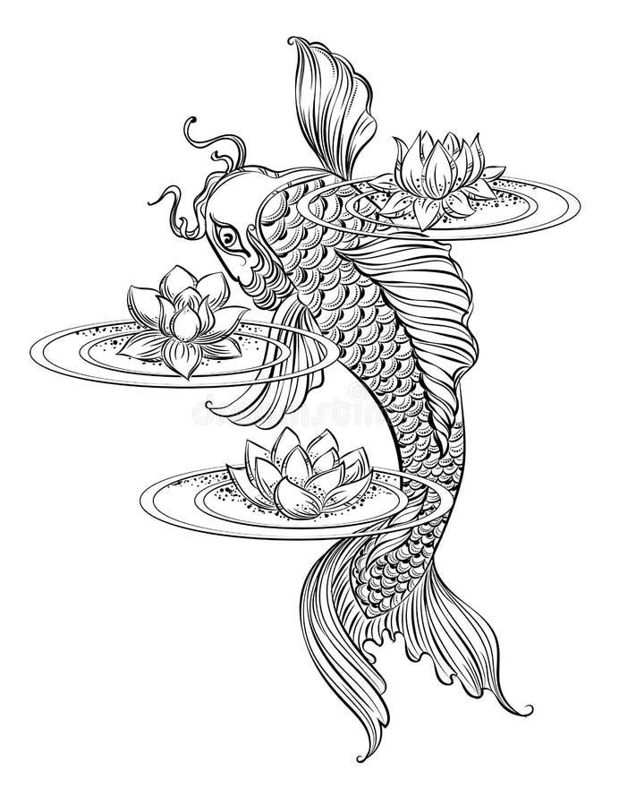 Karpfen tatoo 2 vektor abbildung