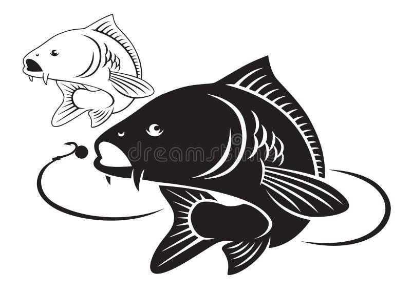 Karpfenfische stock abbildung