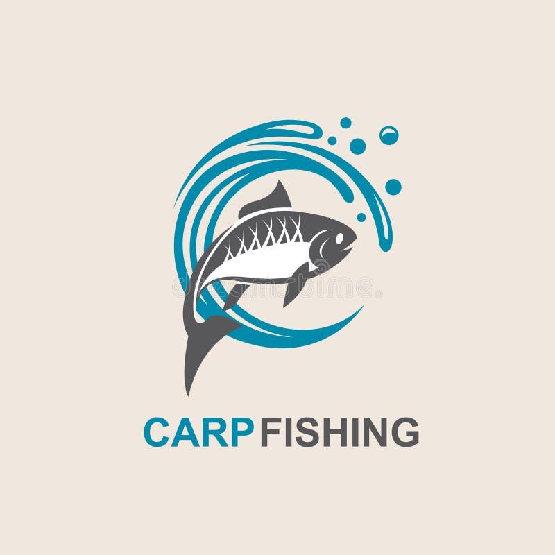 Karpfenfischikone lizenzfreie abbildung