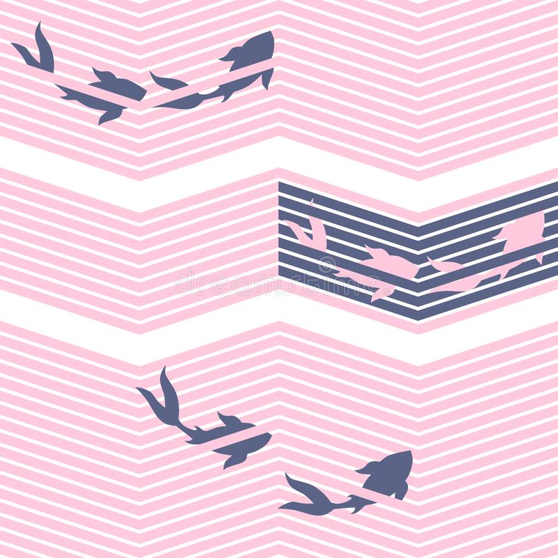 Karpfenorientale-Fische der japanischen Art lizenzfreie abbildung