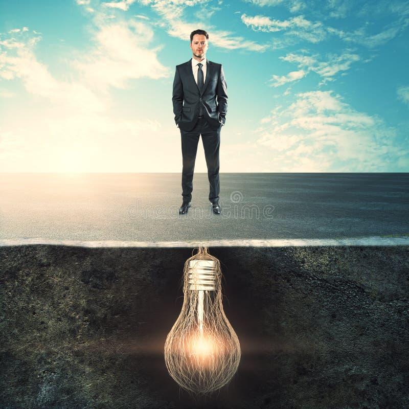 Karriär- och innovationbegrepp arkivfoto
