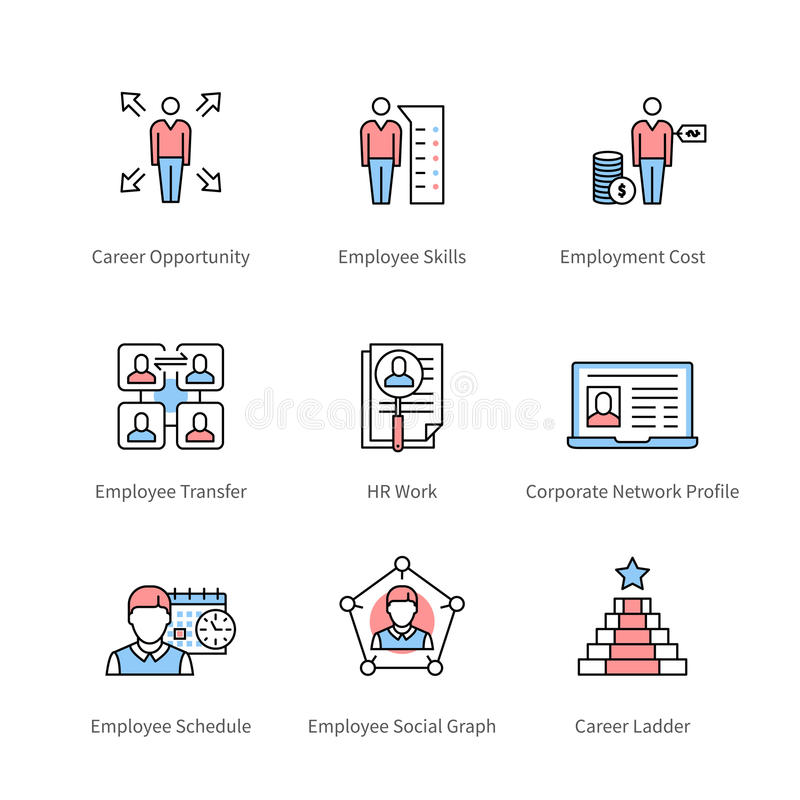 Karriärledning och professionellutveckling stock illustrationer