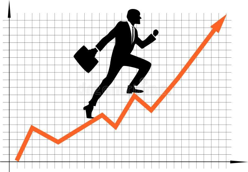 karriärtillväxt stock illustrationer