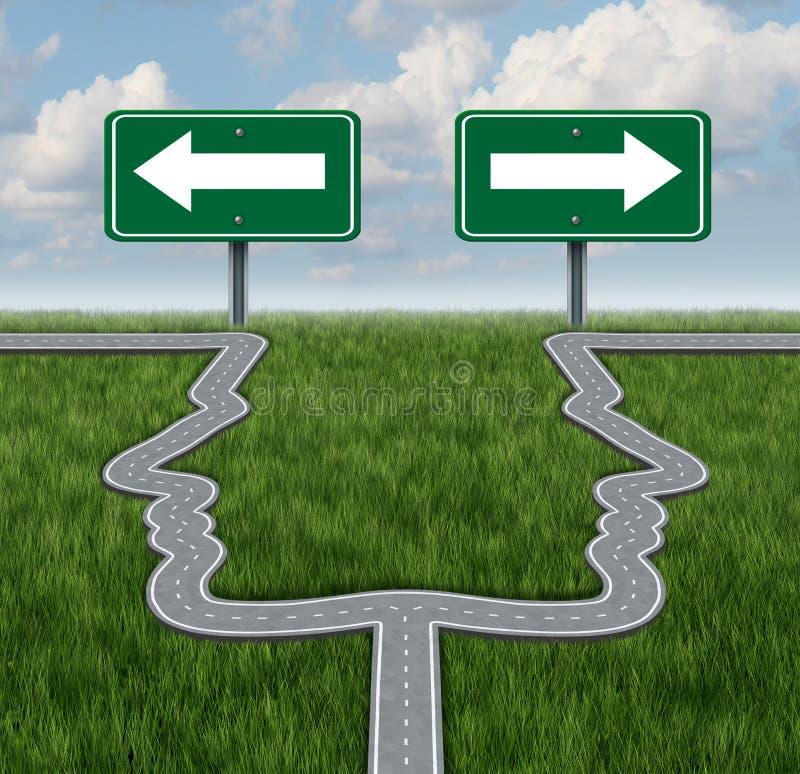 Karriere-Entscheidungen lizenzfreie abbildung