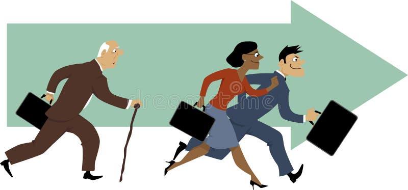Karriere für ältere Angestellte vektor abbildung