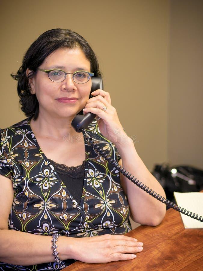 Karriere-gesinnter weiblicher Fachmann bei der Arbeit stockbilder