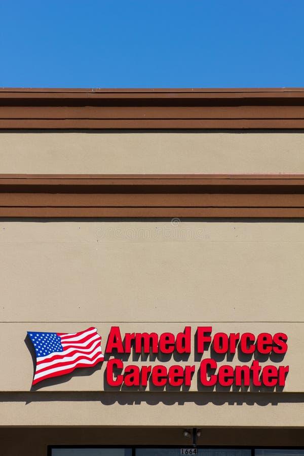 Karriere-Mitte der bewaffneten Kräfte lizenzfreies stockfoto