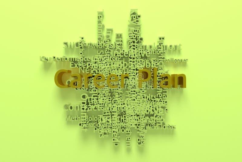 Karriere-Plan, Geschäftsschlüsselwort und Wörter bewölken sich F?r Webseite, Grafikdesign, Beschaffenheit oder Hintergrund Wieder stock abbildung