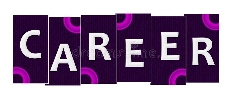 Karriere-purpurrote rosa Streifen lizenzfreie abbildung