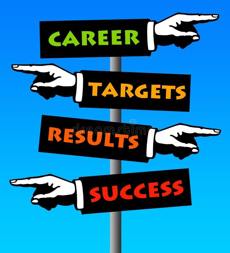 Karriereerfolg lizenzfreie abbildung