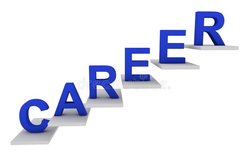 Karrierejobsteps stock abbildung