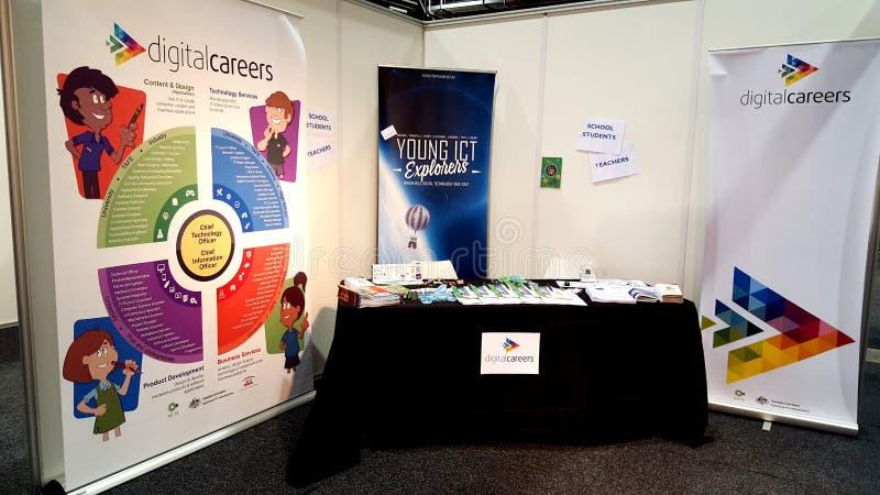Karrieren in der Technologie - Adelaide Careers Expo lizenzfreies stockbild