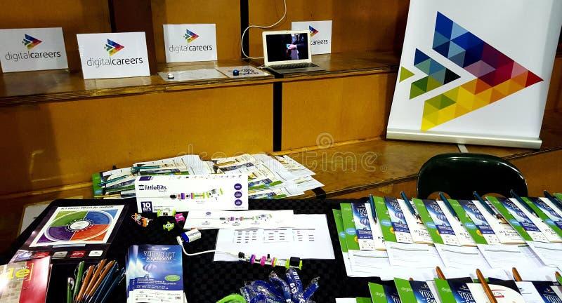 Karrieren in der Technologie - Murraylands-Karriere-Ausstellung lizenzfreie stockfotografie