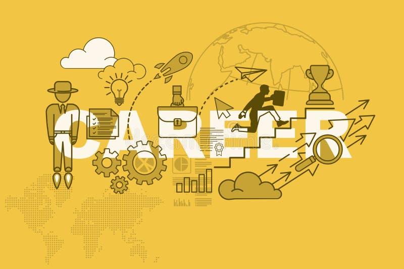 Karrierewebsite-Fahnenkonzept mit dünner Linie flaches Design lizenzfreie abbildung