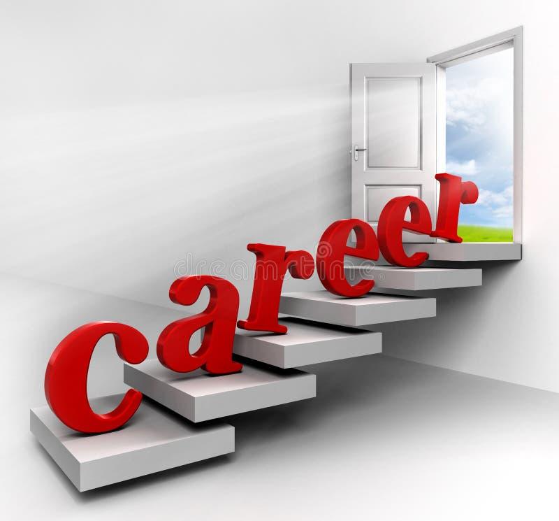 Karrierewort auf Treppe lizenzfreie abbildung