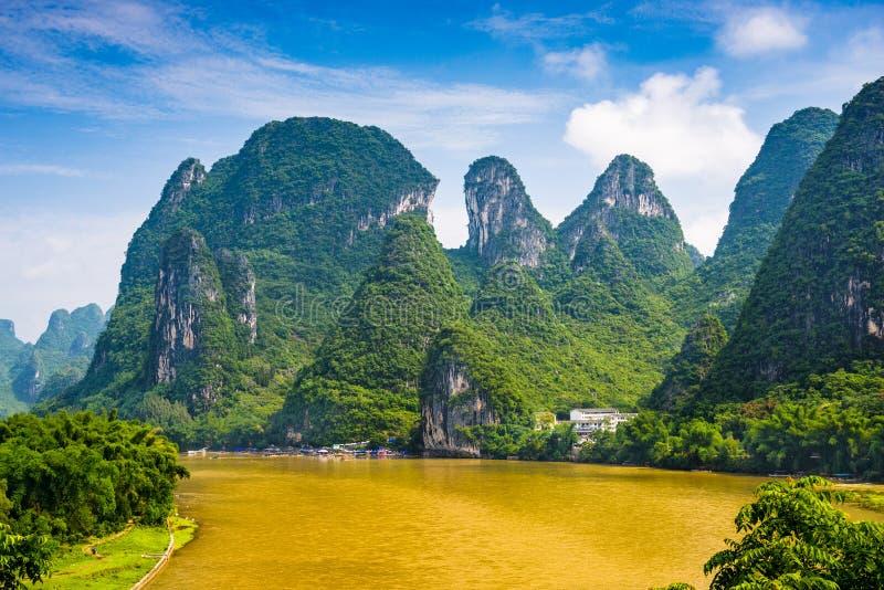 Karst-Berge Guilins, China stockbild