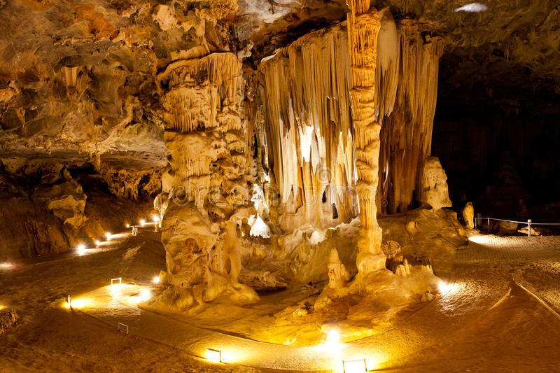 Karst cave. In Oudtshoorn, South Africa stock photos