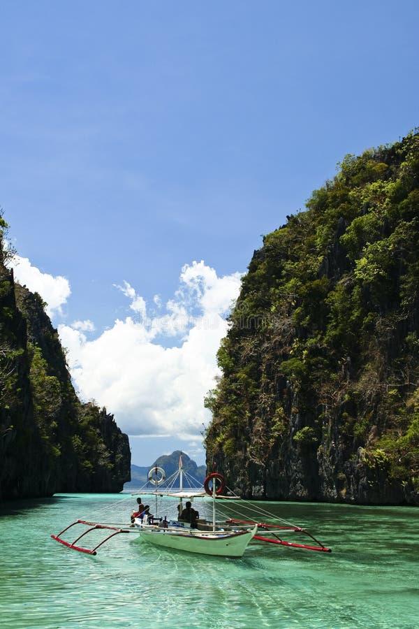 Free Karst Lagoon Banka El Nido Palawan Philippines Stock Image - 3871261