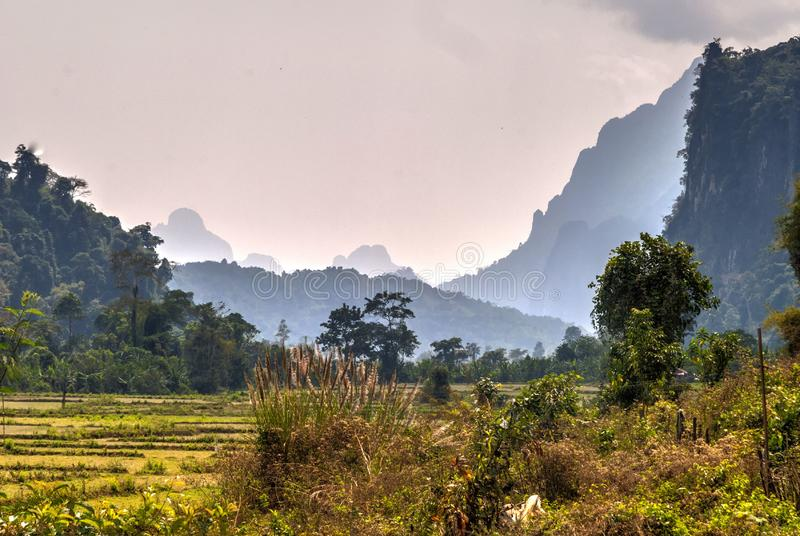 Karst landscape, Laos stock photography