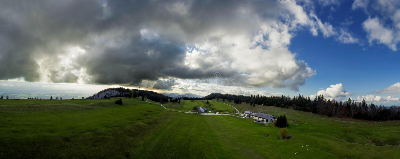 Karst Landscape Panorama stock images