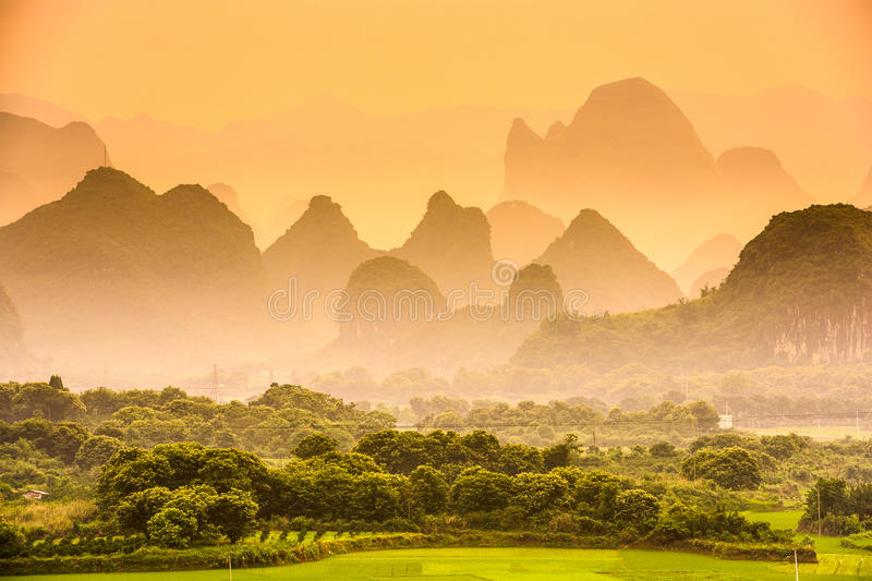 Karst Mountains of China. Karst Mountains of Guilin, China stock images