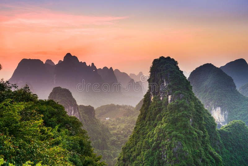 Karst Mountains of Guilin stock photography