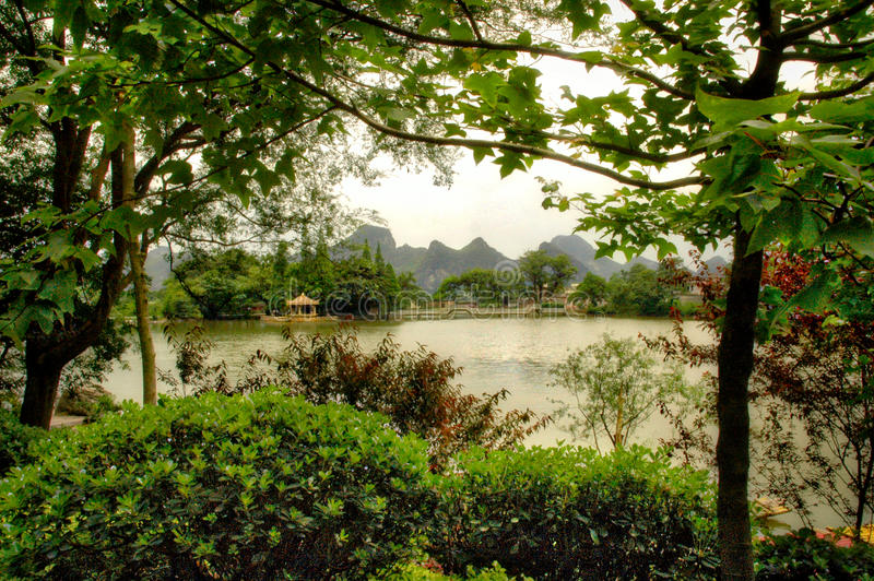 Karst mountains near Guilin, China stock photo