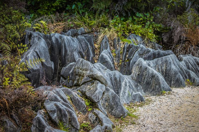 Karst rock formations stock photography