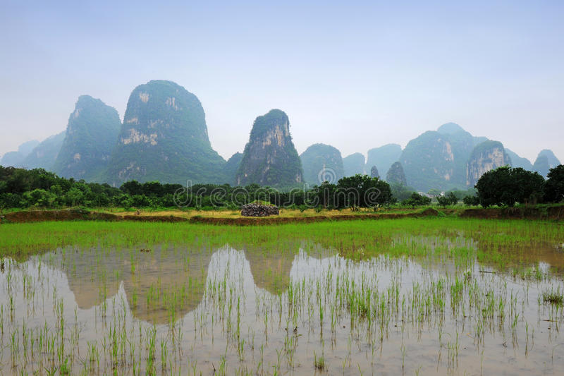 Download Karst Scenery In Guangxi Province, China Stock Image - Image: 16710523