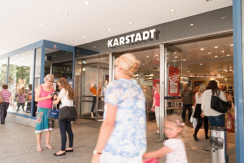 Karstadt wejście obraz stock