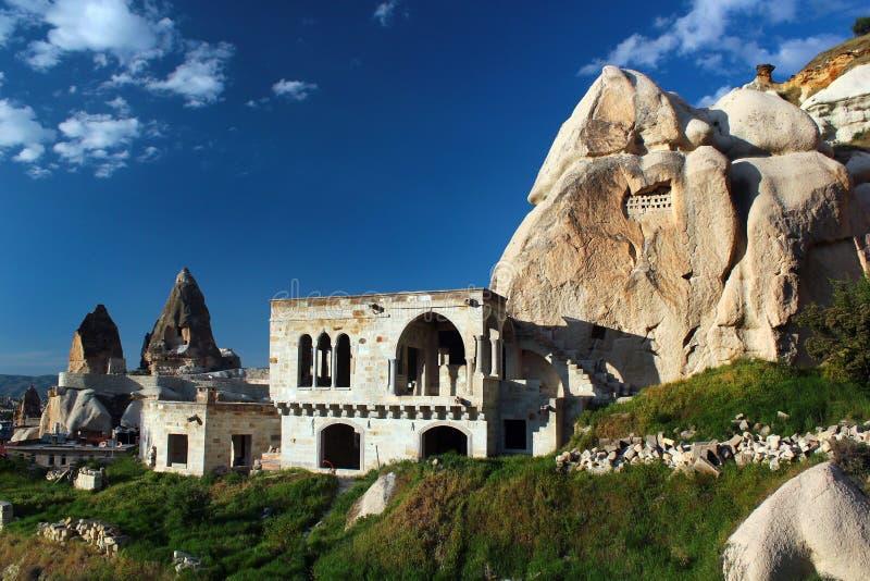 Karstlandschaft in Goreme, Cappadocia, die Türkei lizenzfreie stockbilder