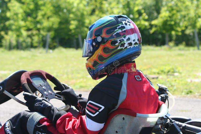 kart шлема стоковая фотография rf