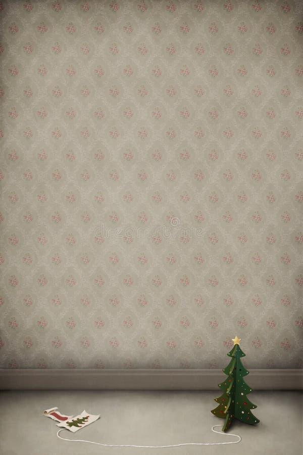 kart bożych narodzeń pokoju zabawki drzewo drewniany ilustracji