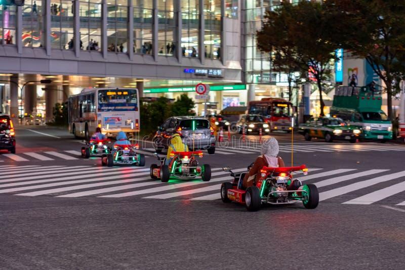 Kart de Mario no distrito de Shibuya no Tóquio, Japão imagem de stock