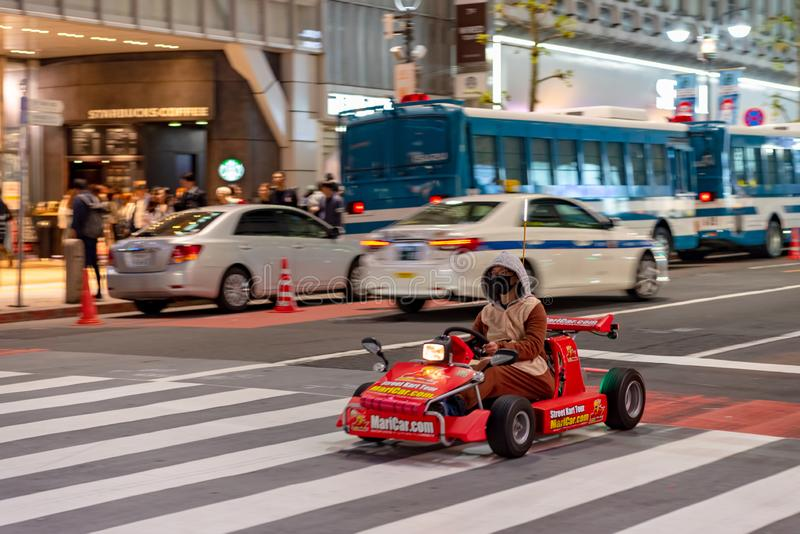 Kart de Mario no distrito de Shibuya no Tóquio, Japão fotos de stock